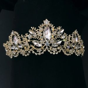 Cinderella's Crystal Crown Tiara AB Crystals Gold